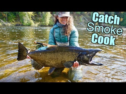 Catch N Cook HUGE King Salmon (Smoked Salmon)