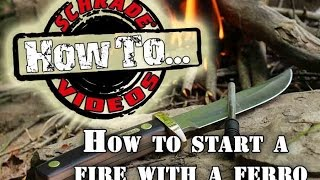 Survival Fire Building - How to Start a Fire with a Ferro / Firesteel Rod - without Matches.