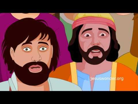 Bible Stories For Kids - Feeding 5000 ( Jesus Cartoon Animation In Hindi )