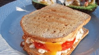 Low Carb Primal Goat Cheese Egg On Paleo Bread