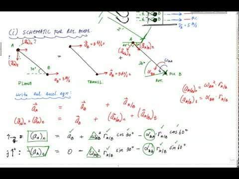 Acceleration Analysis Example Part 2 of 3 - Engineering Dynamics - Rigid Body Kinematics