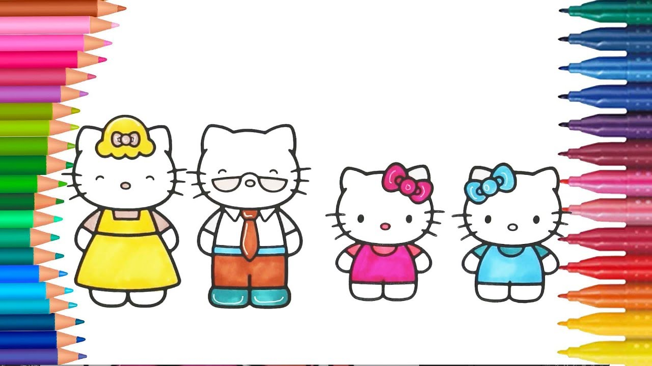 Hello Kitty Ausmalbilder Färbung | Hello Kitty Deutsch Ausmalbilder ...