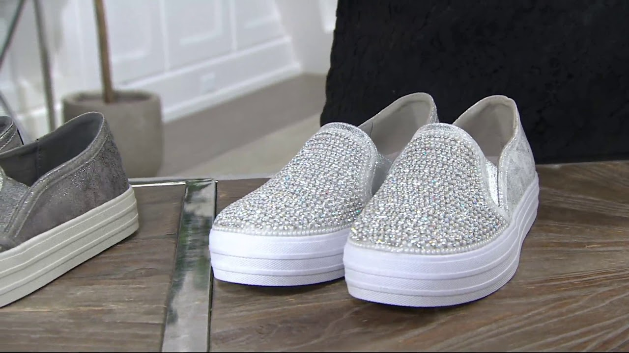 Angebot bestbewerteter Beamter angemessener Preis Skechers Embellished Slip On Shoes - Shiny Dancer on QVC