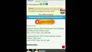 How to download captain marvel movie Tamil dubbed HD