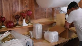 Selling Antiques Online - How To Properly Pack An Antique Astral Lamp For Shipping
