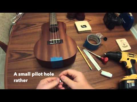 Ukulele Strap Button Installation Youtube