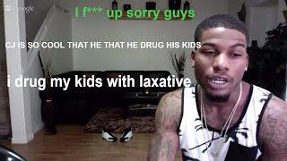 cj so cool has drug his kids aka f up its a prank bro