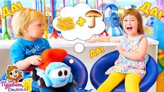 Бьянка и Карл на детской площадке. Грузовичок Лёва готовит обед - Рецепты в шоу Привет, Бьянка