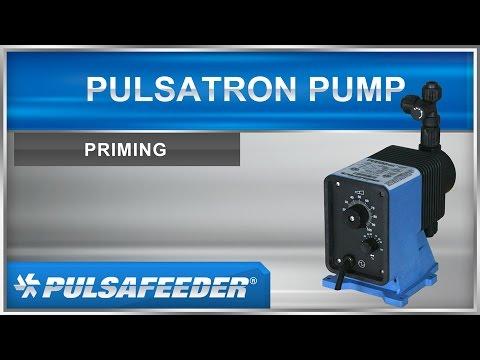 Pulsafeeder PULSAtron Series Metering Pumps - Priming your pump