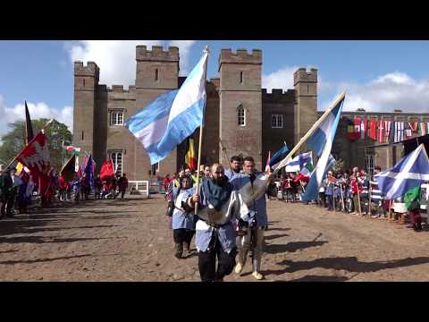 Clanadonia start the 2018 Medieval Combat World Championship at Scone Palace with a tribal beat
