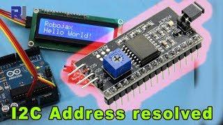 LCD1602 I2C Address for Arduino explained