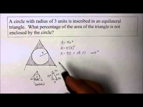 908 GE  Equilateral Triangle Circumscribes Circle
