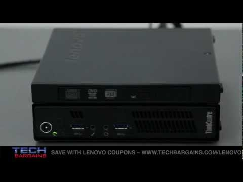Lenovo ThinkCentre M92p Tiny Desktop and ThinkVision LT2323z Monitor Video Review (HD)
