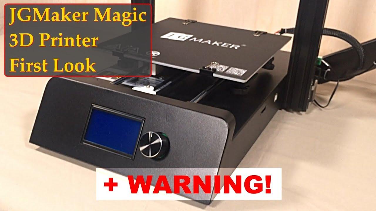 video JGMAKER Magic 3D Printer