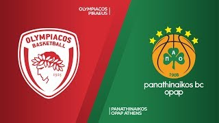 Olympiacos Piraeus - Panathinaikos OPAP Athens Highlights | EuroLeague RS Round 16