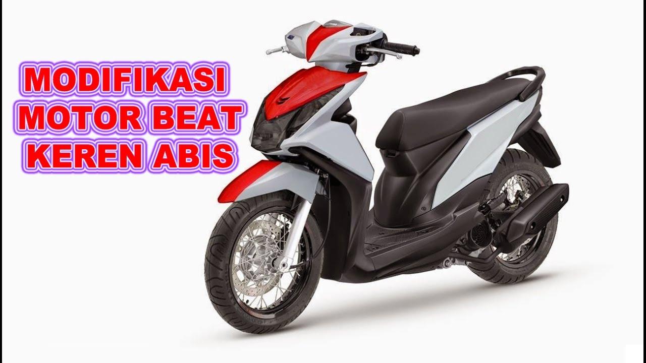 70 Modifikasi Motor Beat Biru Putih Sederhana Terkeren Kempoul Motor