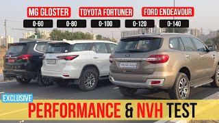 Download 2021 Toyota Fortuner vs Endeavour vs Gloster - 0-100 KM/H Test