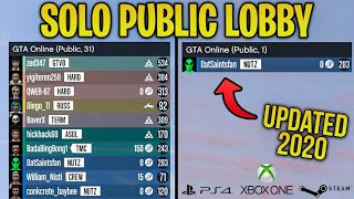 How To Get a SOLO PUBLIC Lobby on PS4, Xbox One & PC in GTA 5 Online (Updated 2020 Guide)