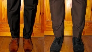 What Man Wears A Black Suit & Brown Shoes