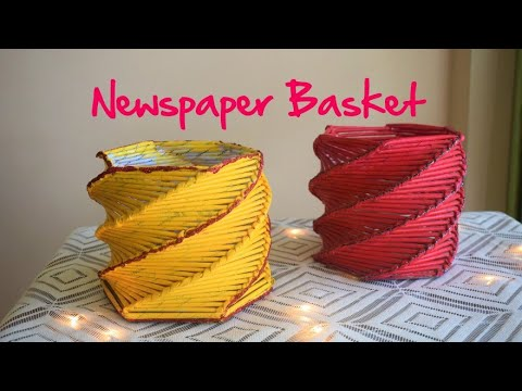 DIY | Newspaper Basket  | paper craft ideas | parulpawar
