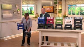 Kikkerland Set Of 2 Easy-fold And Easy-store Step Stools With Dan Hughes