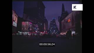 1966 Times Square at Night, New York, 35mm Rushes