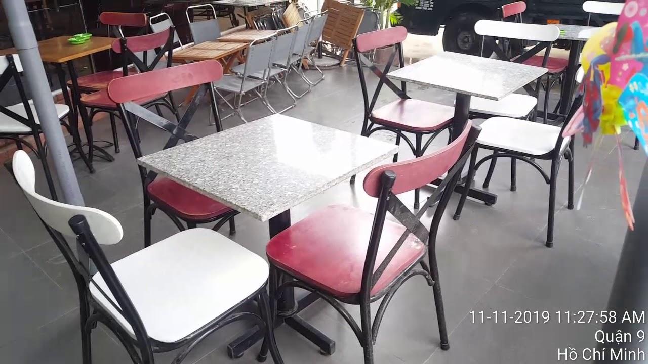 Bàn ghế cafe rẻ đẹp thanh lý- hàng thanh lý mà như hàng mới
