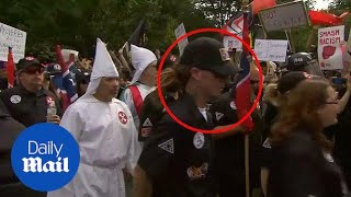 Ku Klux Klan member sporting dreadlocks spotted at Virginia rally - Daily Mail