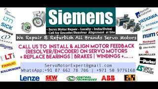 Repair Health Check Run Test of Servo Motors Encoders EEncoder Alignment