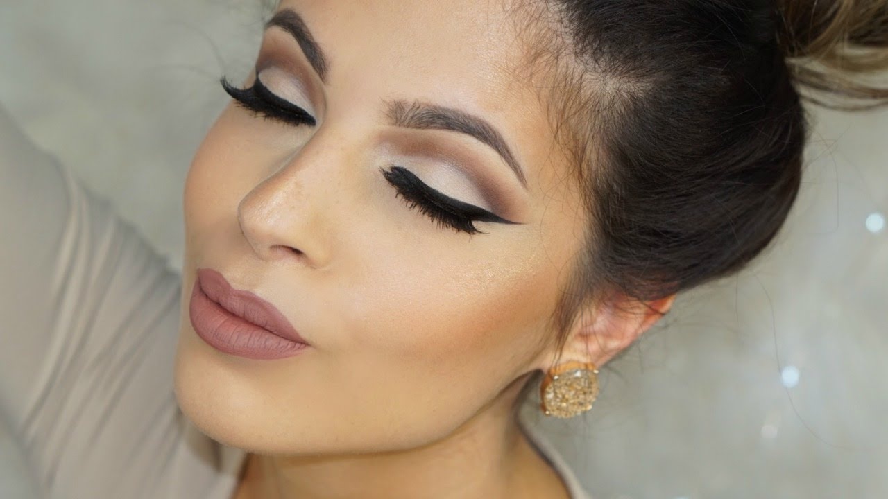 Everyday neutral cut crease makeup tutorial 2016 youtube baditri Images