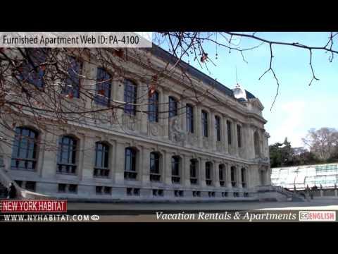 Paris France video Tour of a furnished Apartment on rue des fosses saint marcel