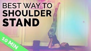 How to do Shoulder Stand Safely | Shoulder Stand Yoga Pose Tutorial | Salamba Sarvangasana