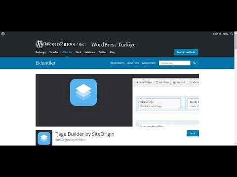 Page Builder by SiteOrigin Kullanımı