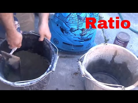 HOW TO MIX SAND AND CEMENT BY HAND DIY