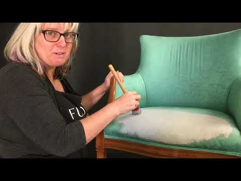 How to paint a fabric chair using Fusion Mineral Paint