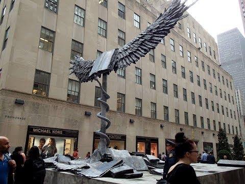 "Anselm Kiefer's Sculpture, ""Uraeus"" at Rockefeller Center"
