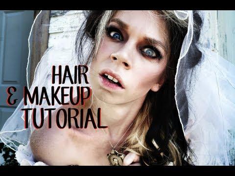 HAIR & MAKEUP TUTORIAL - GHOST BRIDE