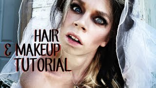 HAIR & MAKEUP TUTORIAL - GHOST BRIDE