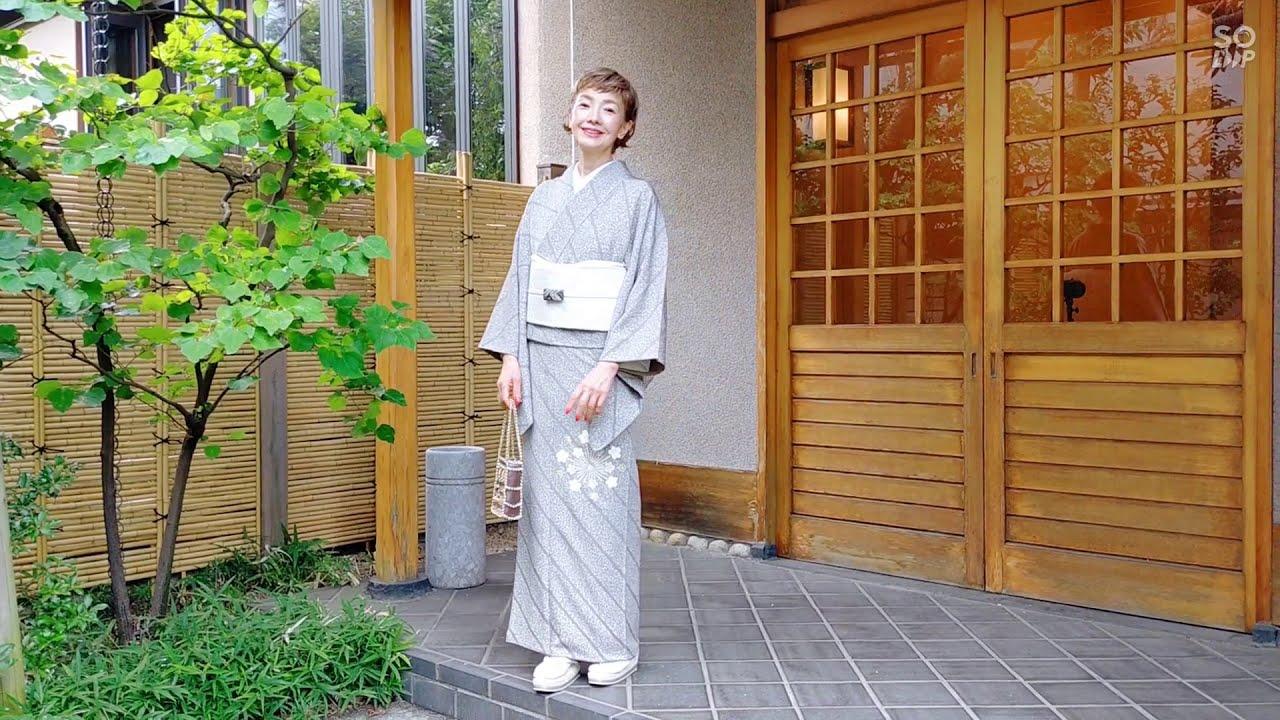 12月 雪華文様訪問着 mp4 #SaikoStyle #一色采子 #母のタンス、娘のセンス #きもの