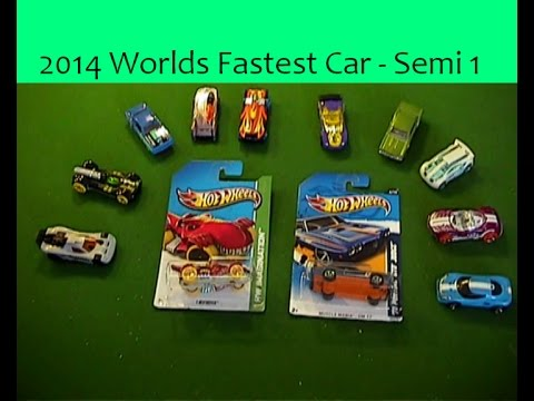 2014 worlds fastest car semi final 1 hot wheels youtube. Black Bedroom Furniture Sets. Home Design Ideas