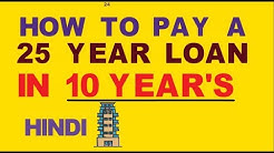 Home loan repayment tips 25 year Loan Paid in 10 year's How