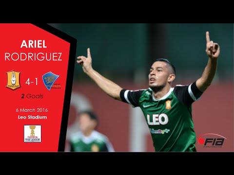 Ariel Rodriguez - 2 GOALS - Bangkok Glass 4-1 Osotspa FC - Thai League 2016