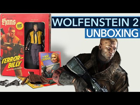 Wolfenstein 2: Collector's Edition – Unboxing: Michi spielt mit Terror-Billy
