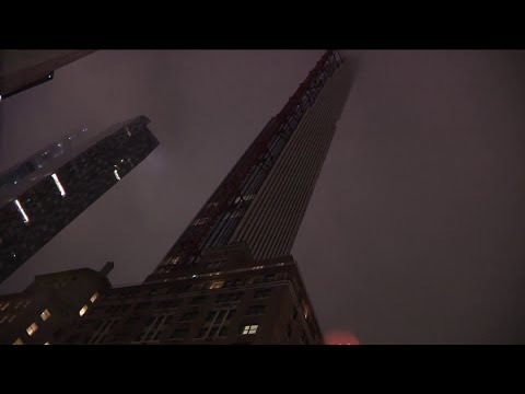 Glass from high rise shatters on Manhattan street as winds slam NYC