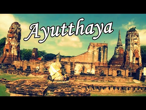 Ancient city of Ayutthaya historical park in Thailand