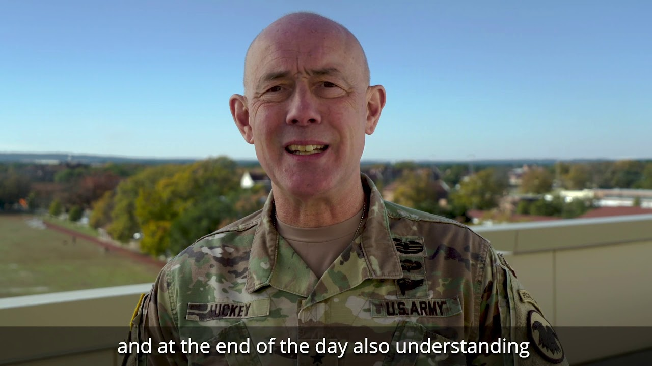 Lt. Gen. Charles D. Luckey, chief of Army Reserve and commanding general, U.S. Army Reserve Command, sends his message to the field about the Army Combat Fitness Test, the newest way the Army will evaluate the physical fitness and endurance of its Soldiers.