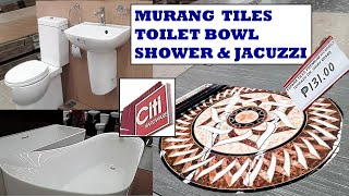 PRESYO NG FLOOR TILES, TOILET BOWL AT SHOWER SA CITI HARDWARE