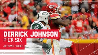 Derrick Johnson's Pick Six is Ryan Fitzpatrick's 5th INT of the Game!   Jets vs. Chiefs   NFL