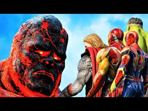 THE AVENGERS Vs BIGGEST TITAN - Kratos Vs Perses