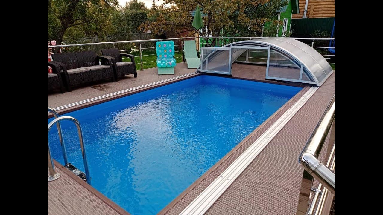 Раздвижной павильон для бассейна 5*3 м